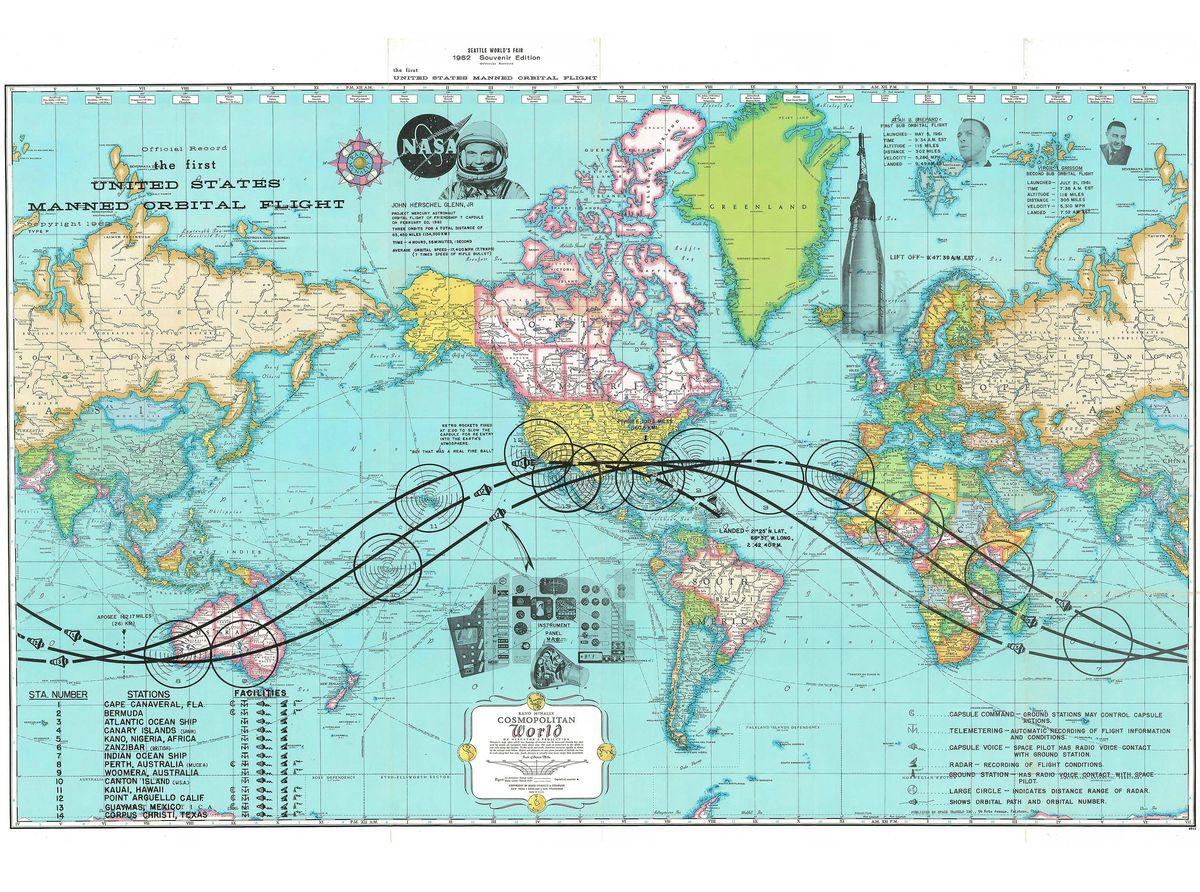 john glenn map new