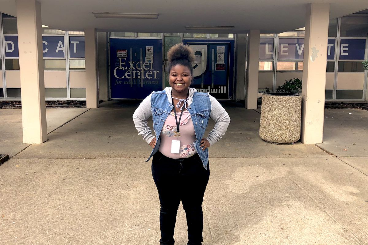 Kennishia Pratts, 19, is on track to graduate from The Excel Center in December. She plans to attend Spelman College, a prestigious historically black women's college.