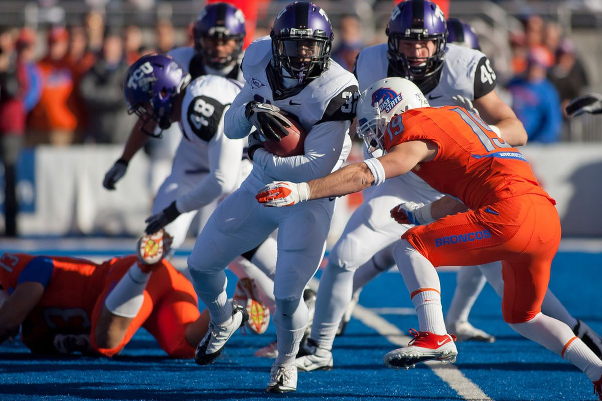 An improved Big East should have included both Boise State and TCU (Photo by Otto Kitsinger III/Getty Images)
