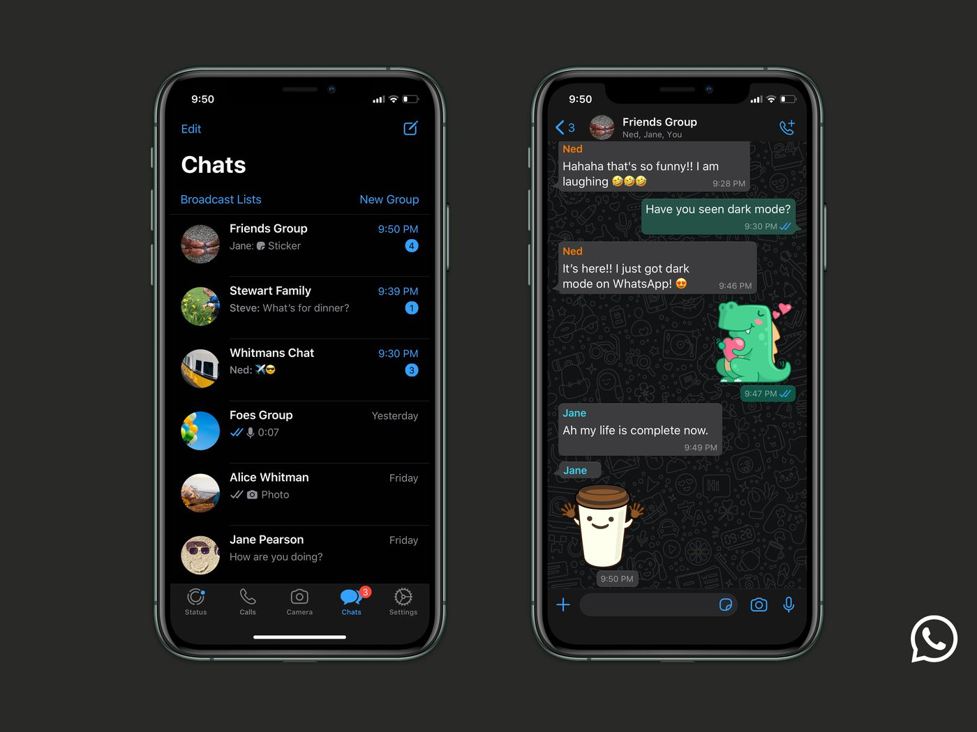 Whatsapp Dark Mode Now Available For Ios And Android The Verge