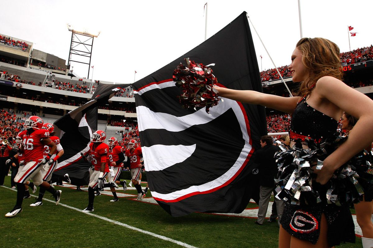 ATHENS, GA - NOVEMBER 19:  The Georgia Bulldogs enter the field to face the Kentucky Wildcats at Sanford Stadium on November 19, 2011 in Athens, Georgia.  (Photo by Kevin C. Cox/Getty Images)