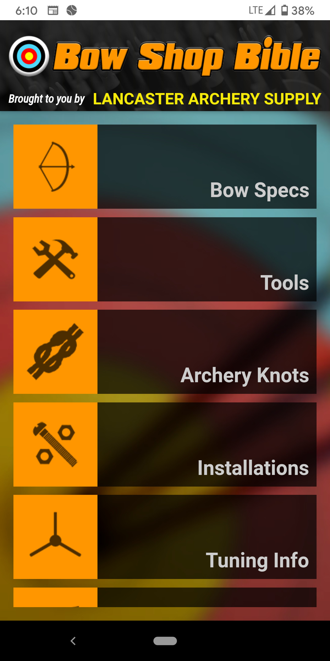 Screenshot of the Bow Shop Bible app. Credit: Dale Bowman