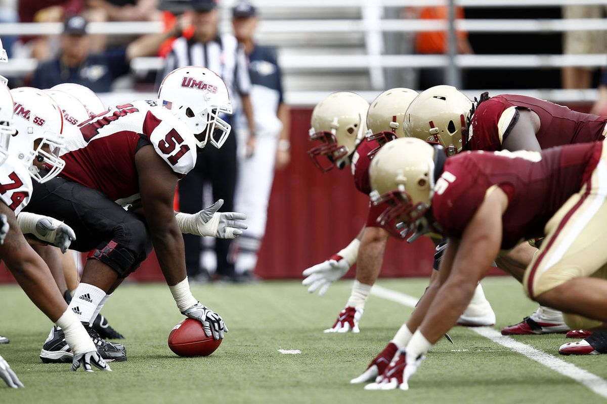Based on their strength of schedule, UMass is taking this whole FBS thing head on. (Photo: Mark L. Baer-US PRESSWIRE)