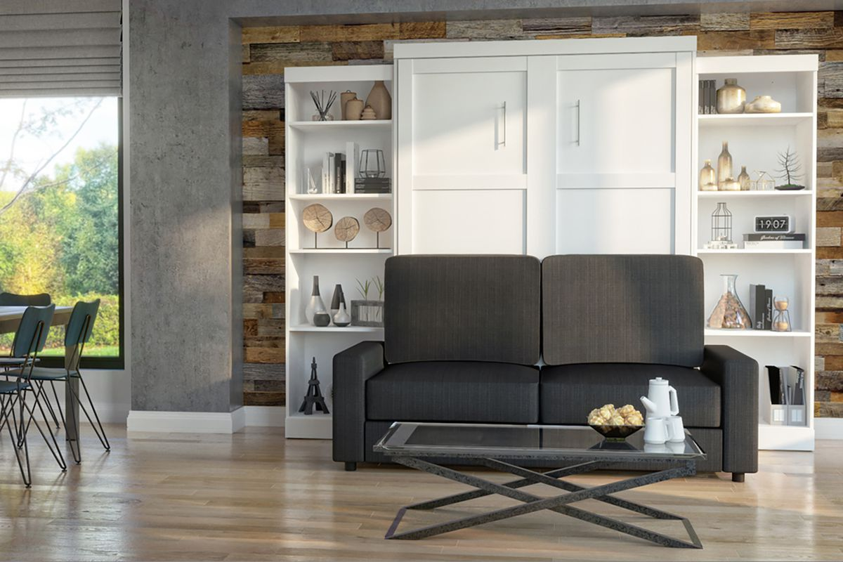 Murphy bed with sofa.