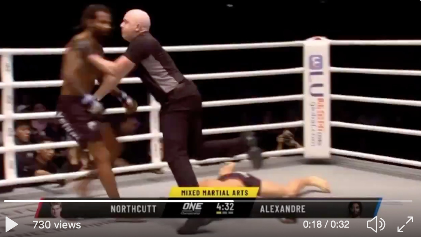 Video: Watch Sage Northcutt get KTFO in 29 seconds in ONE Championship debut