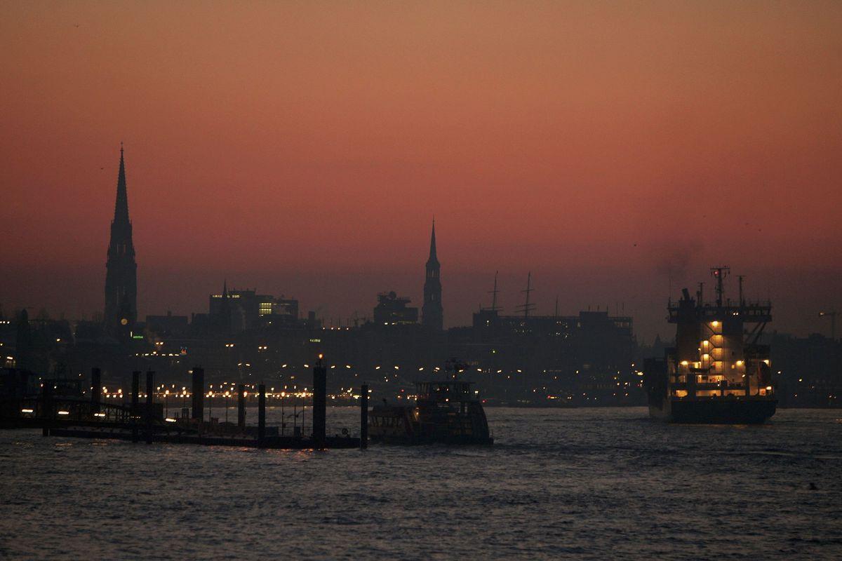 Cold Morning At Hamburg Seaport