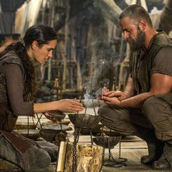"""(Left to right) Jennifer Connelly is Naameh and Russell Crowe is Noah in """"Noah,"""" from Paramount Pictures and Regency Enterprises."""