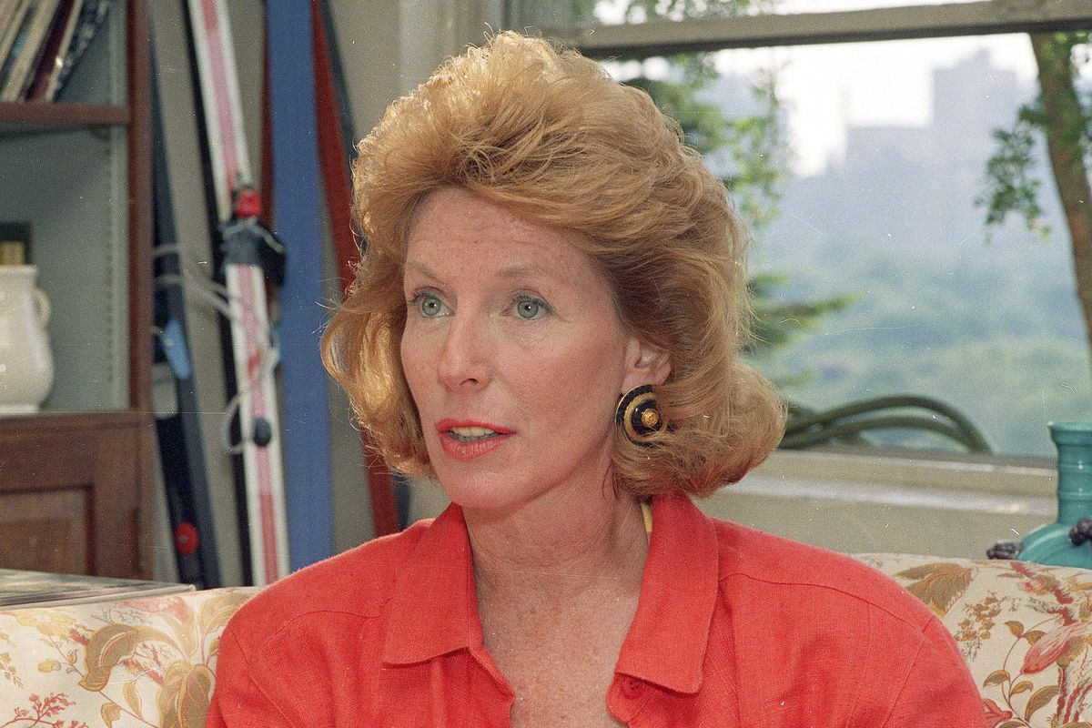 Author Gail Sheehy (pictured in 1988) died Monday of complications from pneumonia in Southampton, New York. She was 83.