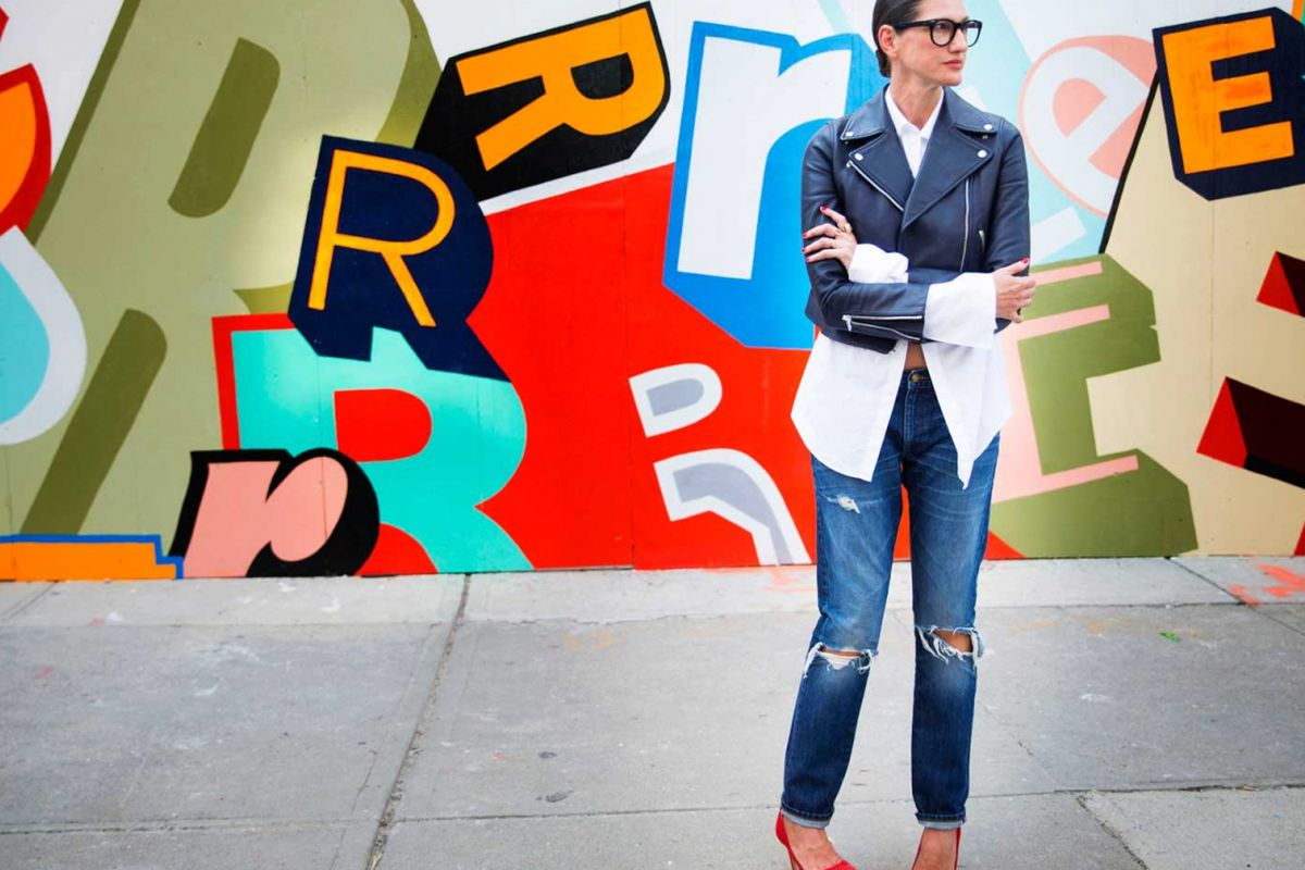 """Image via <a href=""""http://jeanstories.com/the-stories/jenna-lyons-in-her-jeans-enough-said/"""">Jean Stories</a>."""