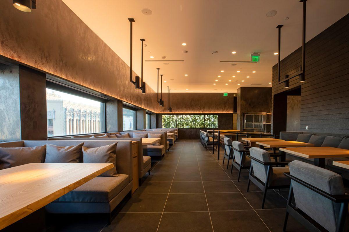A gorgeous serene Japanese restaurant with sushi bar.