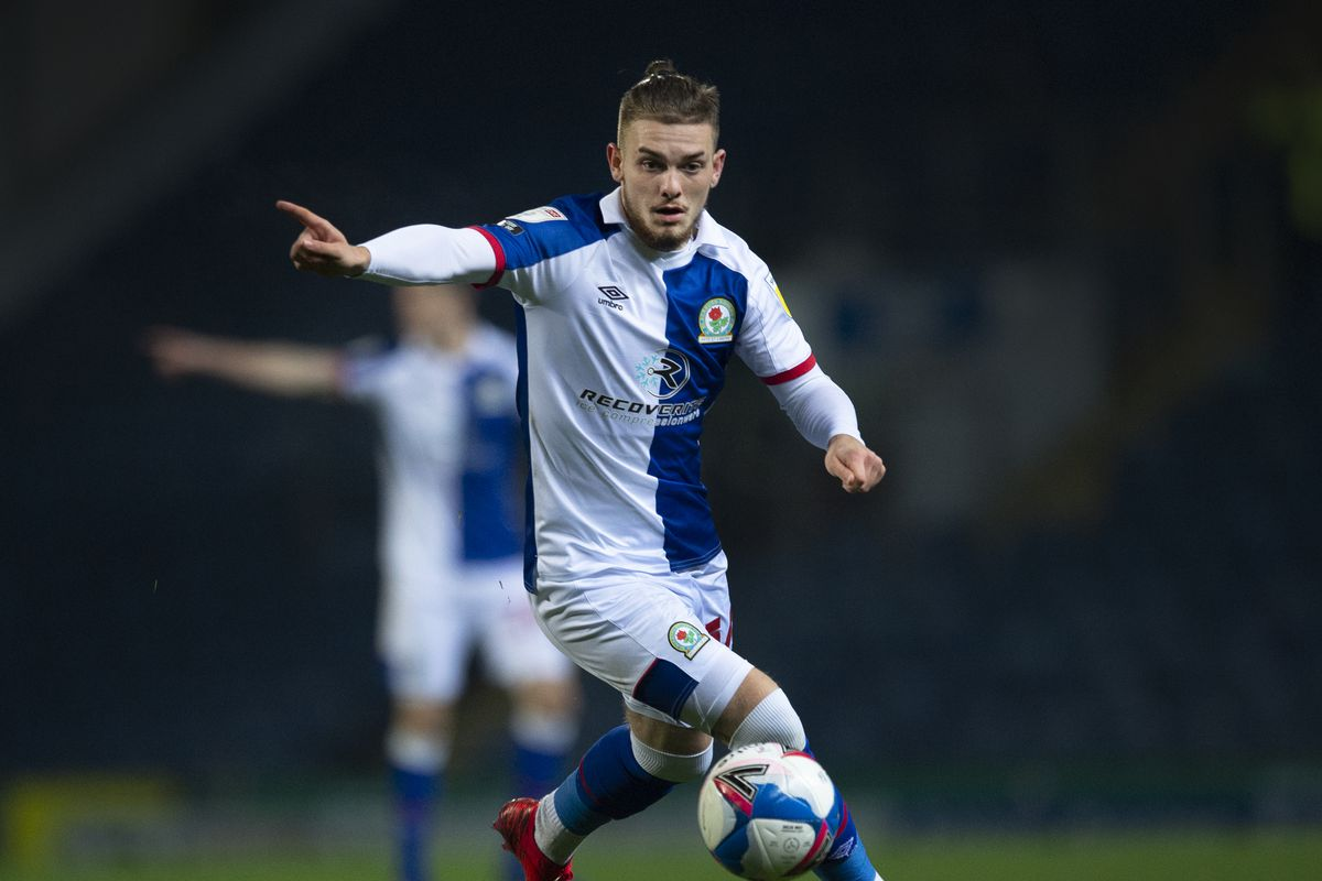 Harvey Elliot points to where he wants to see a teammates' run in the Sky Bet Championship match between Blackburn Rovers and Middlesbrough at Ewood Park on November 3, 2020 in Blackburn, England.