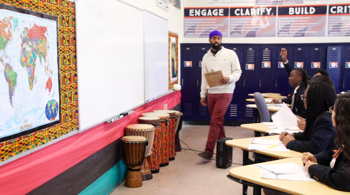 Black started teaching at Freedom Prep five years ago.