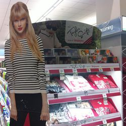 A stand dedicated to Taylor Swift merch