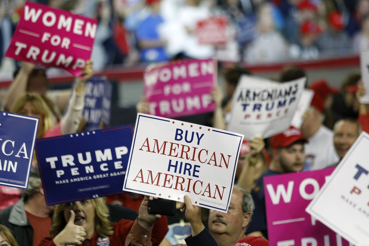 Donald Trump Holds Political Rally In Louisville