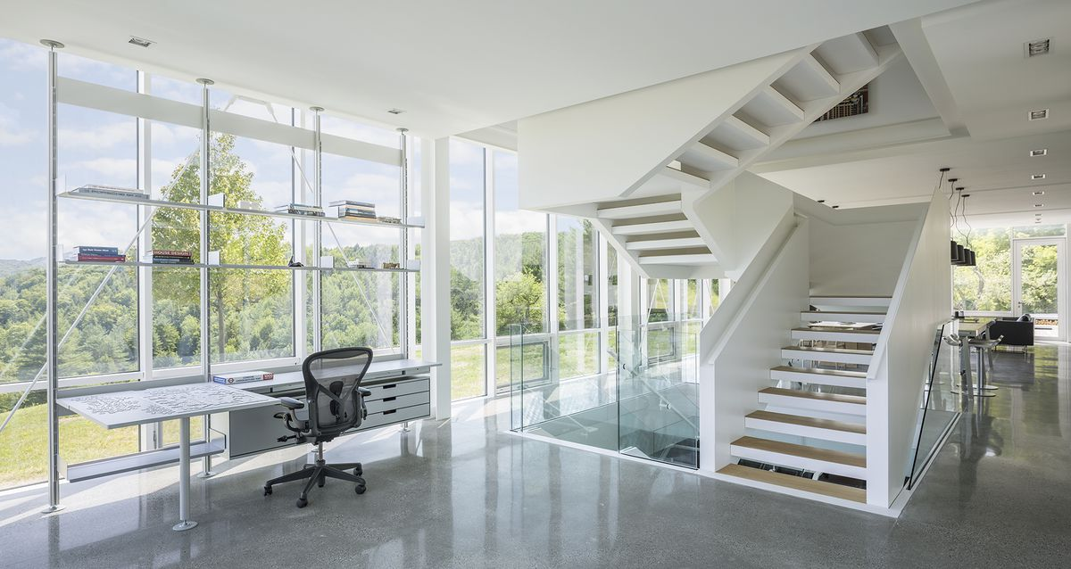 Staircase leading upstairs.