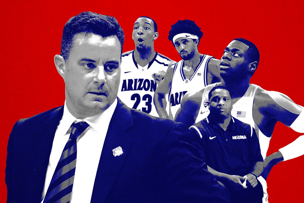 Arizona basketball players and coaches