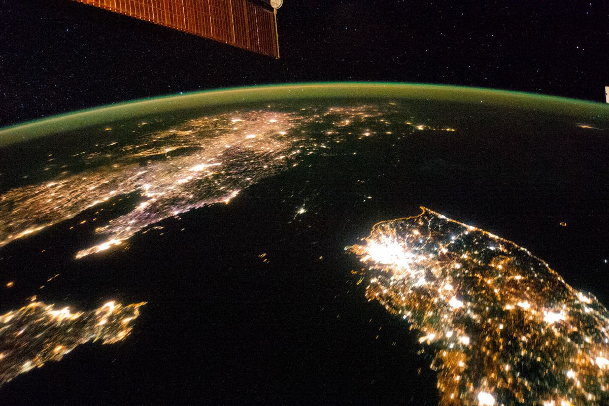North korea defends blackout satellite photos the essence of no single image could hope to capture the ruin and catastrophe brought upon the people of north korea by the despotic kim dynasty but famous satellite gumiabroncs Image collections