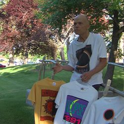 Patrick Wiggins has five total solar eclipses under his belt. Some might say he's an eclipse nut. In Salt Lake City, Wednesday, June 21, 2017, he showed off his souvenir T-shirts at solar eclipses all over the world.