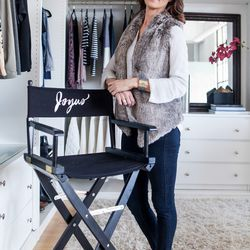 """<b>Jennifer Sharp, Vice President of Partnerships</b>, wearing James Jeans, Bella Dahl top, Tarte Fur vest, and a Leighelena jigsaw buckle bracelet. <br> <b>Your closet is on fire! What three items do you save from the flames?</b> <br> """"My dark wash P"""