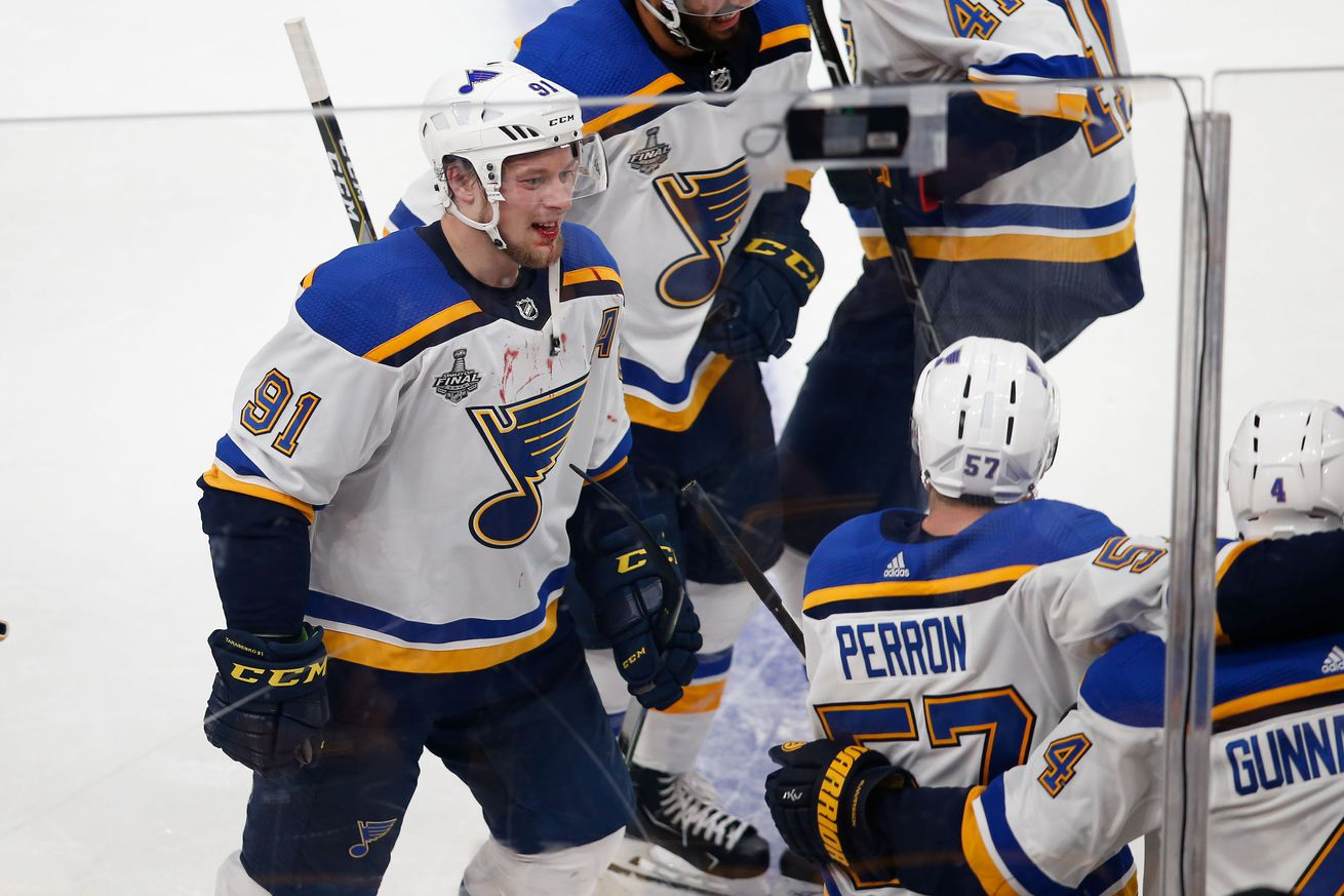 usa today 12794385.0 - Blues home favorites on odds for Game 3 of Stanley Cup Final