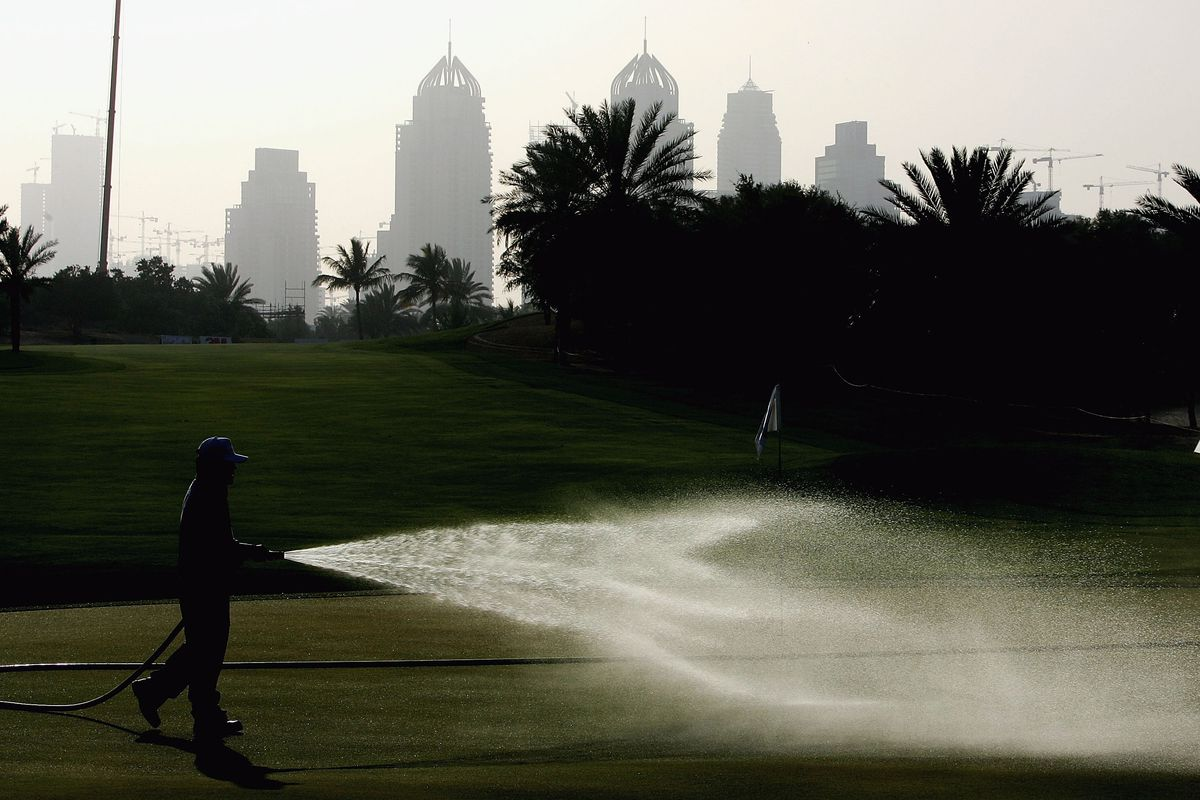 If I could just get off of this Dubai fairway