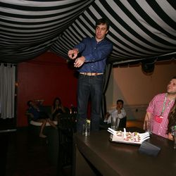 Eater co-founder Lockhart Steele introduces Team Eater to the crowd.