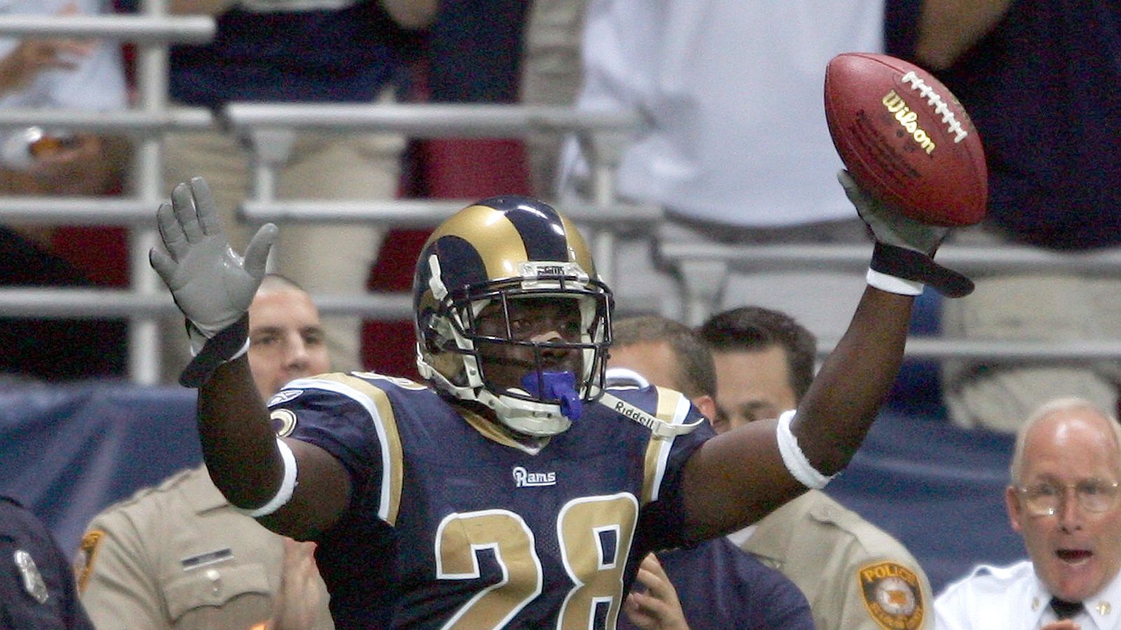 Top 10 Greatest St Louis Rams Moments 6 The Marshall