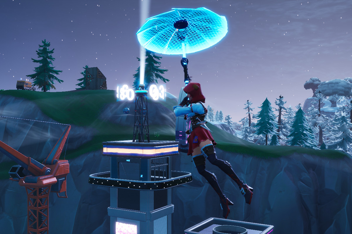 The clock tower in Neo Tilted