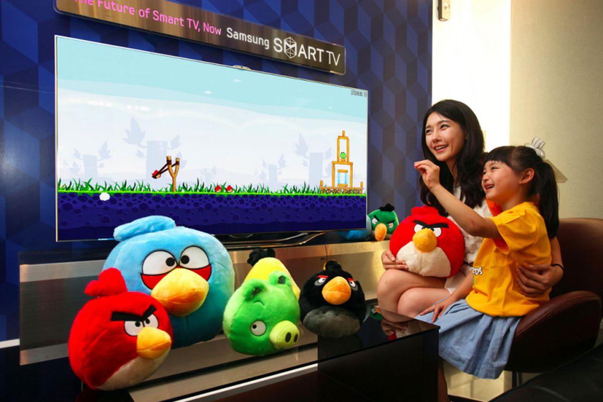 angry birds samsung smart tv