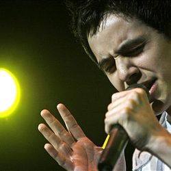 David Archuleta sings to a sold-out crowd at the E Center in West Valley City on Friday. Archuleta is on tour promoting his self-titled album that was released in November.