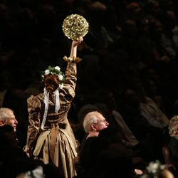 Dancers perform during the Mormon Tabernacle Choir Christmas concert in Salt Lake City on Thursday, Dec. 14, 2017.