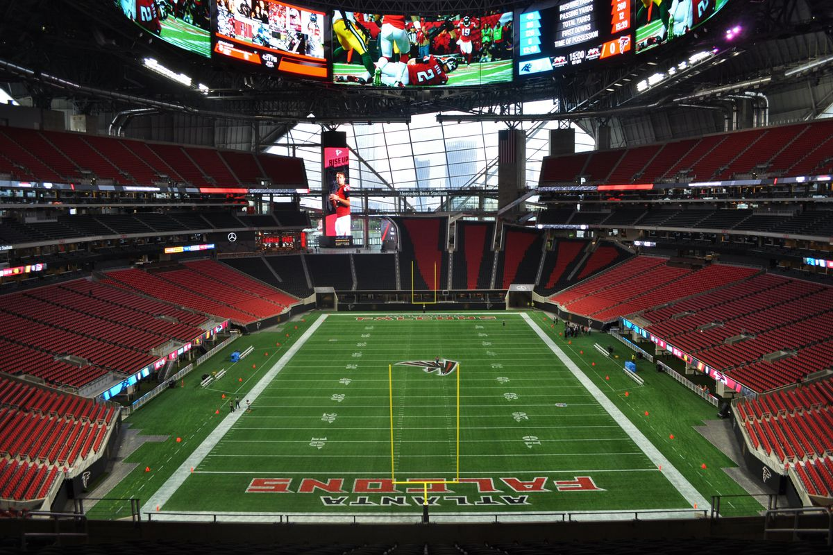 Mercedes-Benz Stadium leadership responds to exiting, bathroom ...