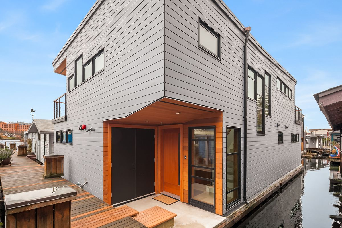 Brand New Portage Bay Floating Home Lists For 2 1 Million