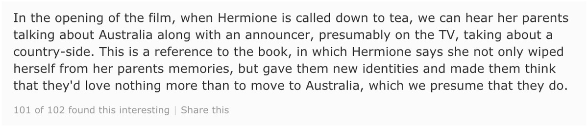 harry potter and the deathly hallows part 1 imdb trivia