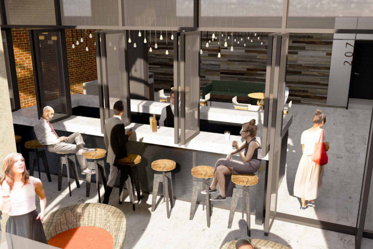 a rendering of the incoming restaurant