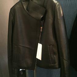 Leather jacket, $550