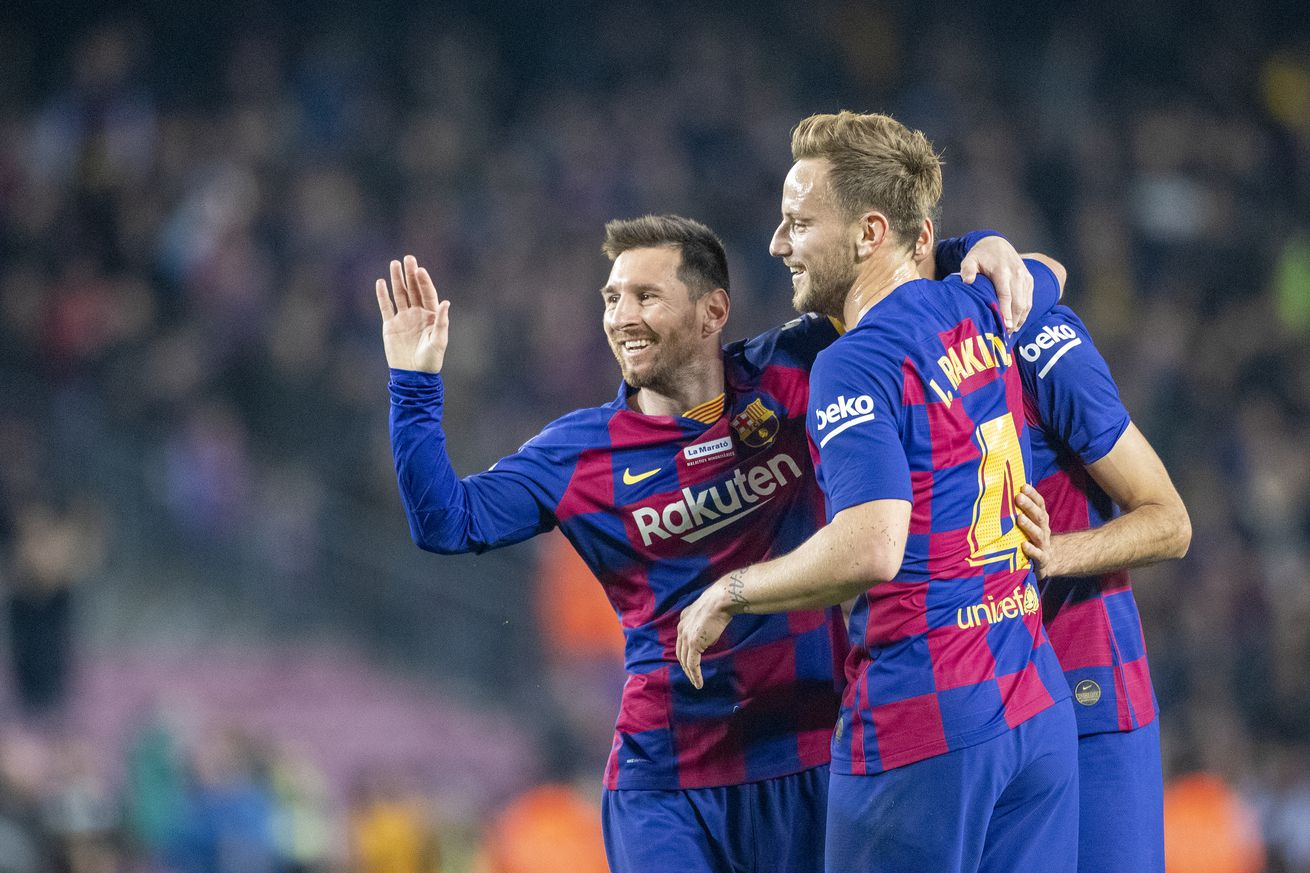 Rakitic discusses relationship with Messi and Suárez