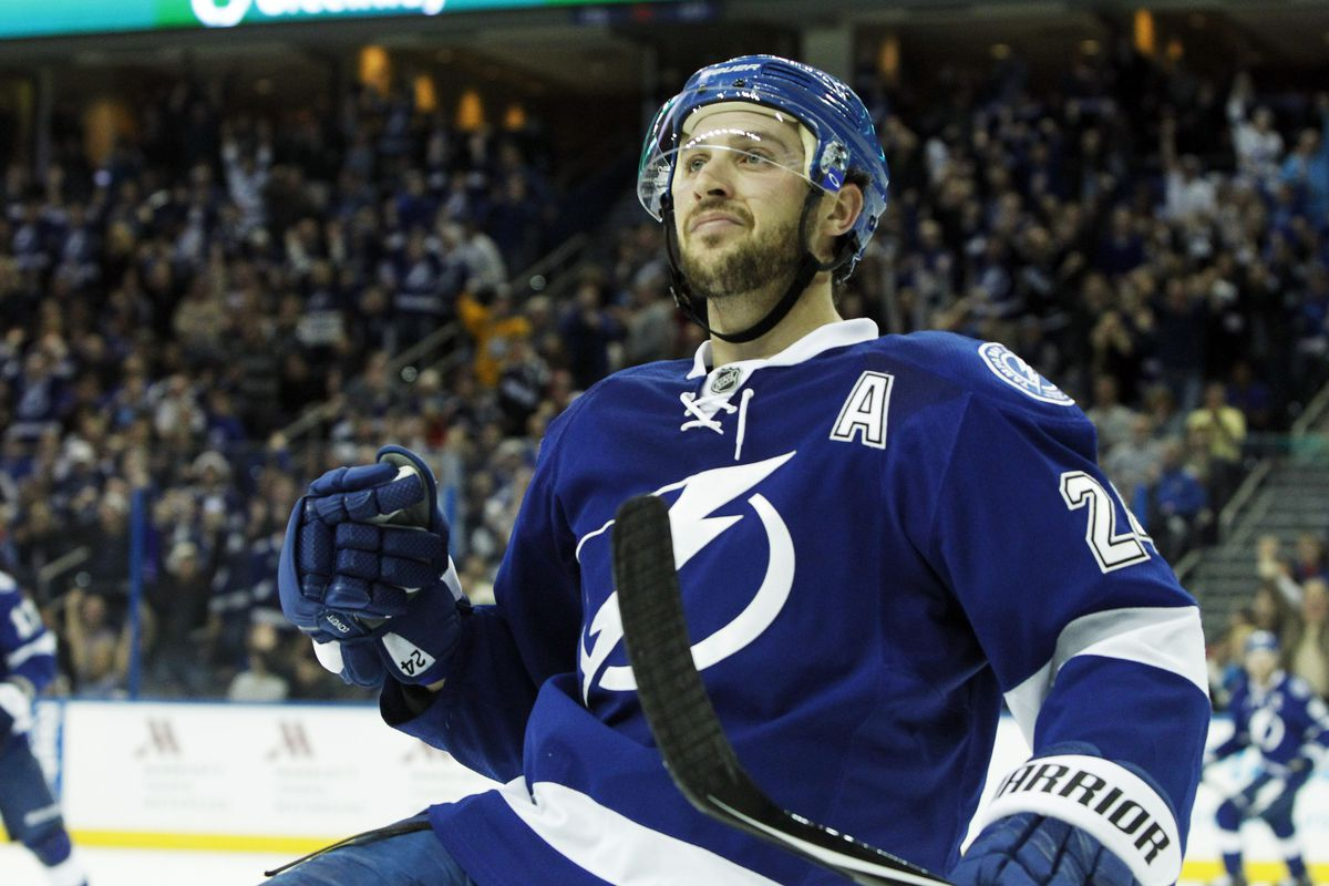 Lightning forward Ryan Callahan celebrates one of two goals he scored in Tampa Bay's 4-3 win over the New York Rangers Wednesday night in Tampa