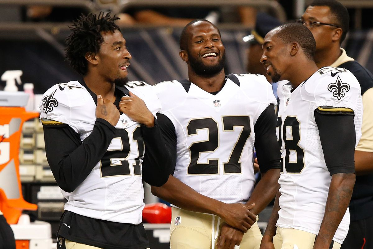 One of these corners is not on the Saints depth chart any more.