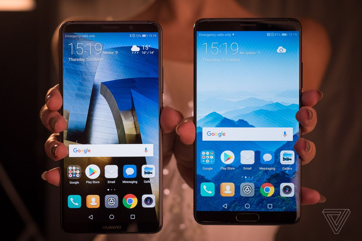 Huawei's Mate 10 phones have big screens, small bezels, and