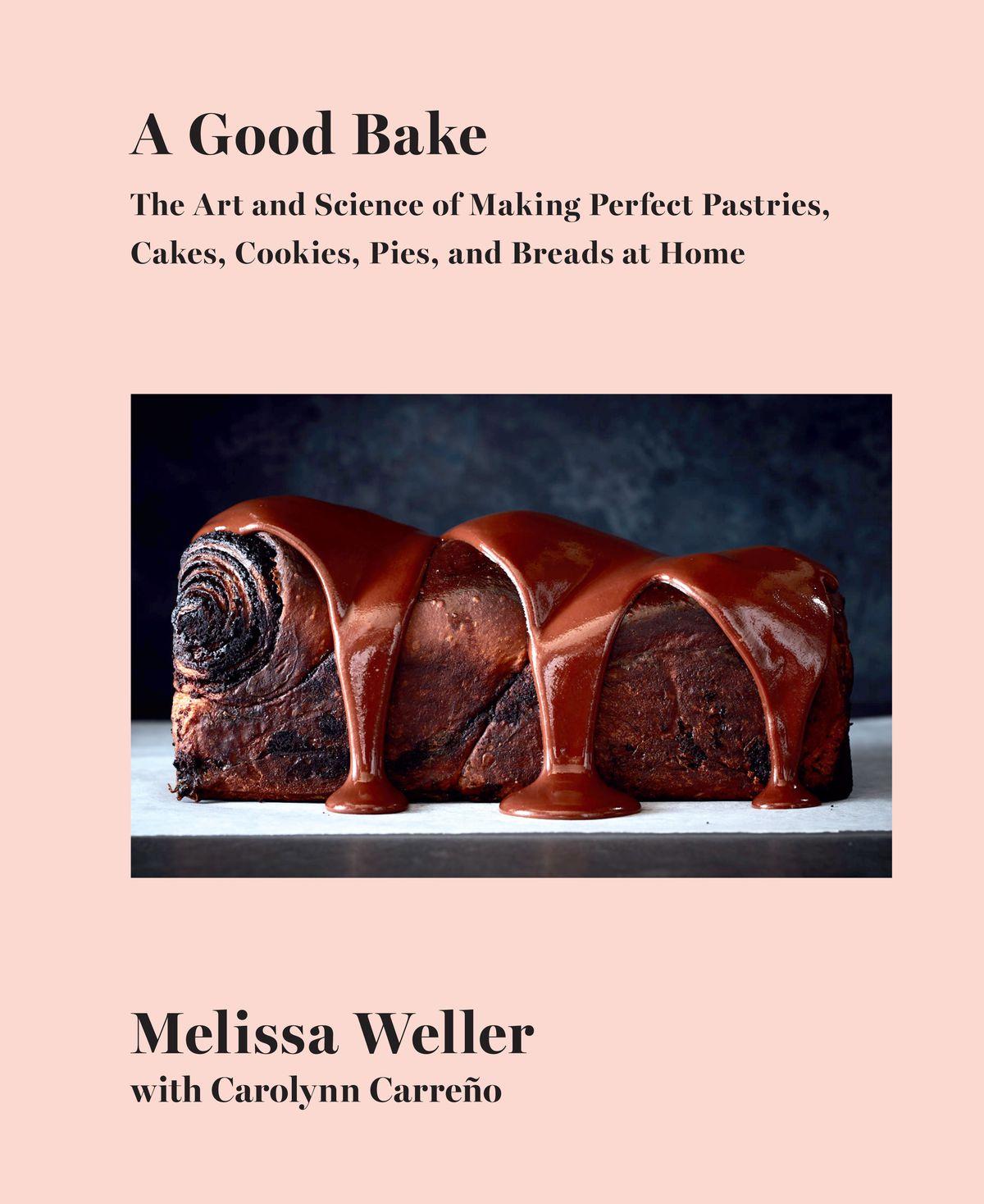 Un pain couvert de sauce au chocolat sur la couverture de A Good Bake