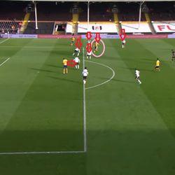 Iwobi slices through the Fulham defence