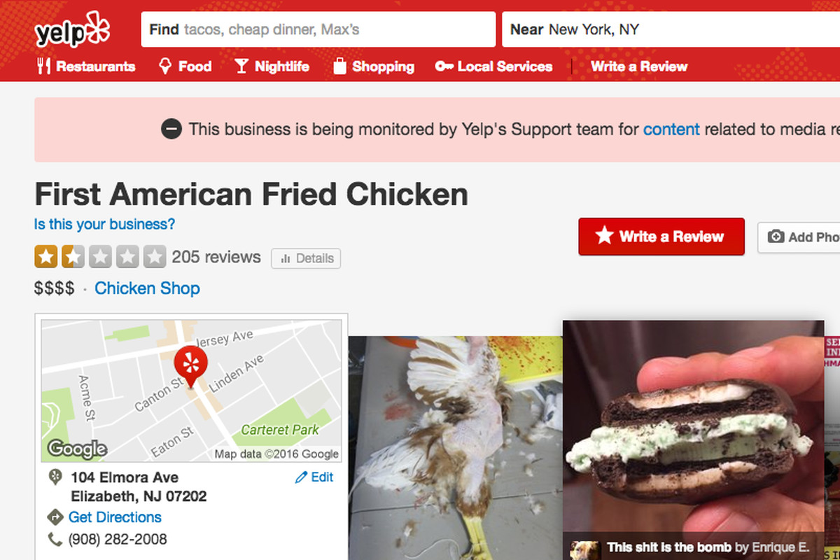 Restaurant Reviews Yelp - People take great pleasure in writing negative online restaurant reviews throw in a dash of current events and a sprinkle of anti muslim sentiment
