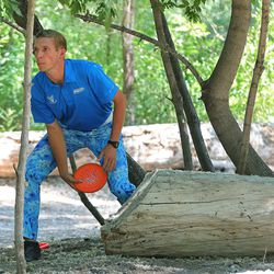 Joel Freeman competes during the Professional Disc Golf World Championships at Fort Buenaventura Park in Ogden on Saturday, June 26, 2021.