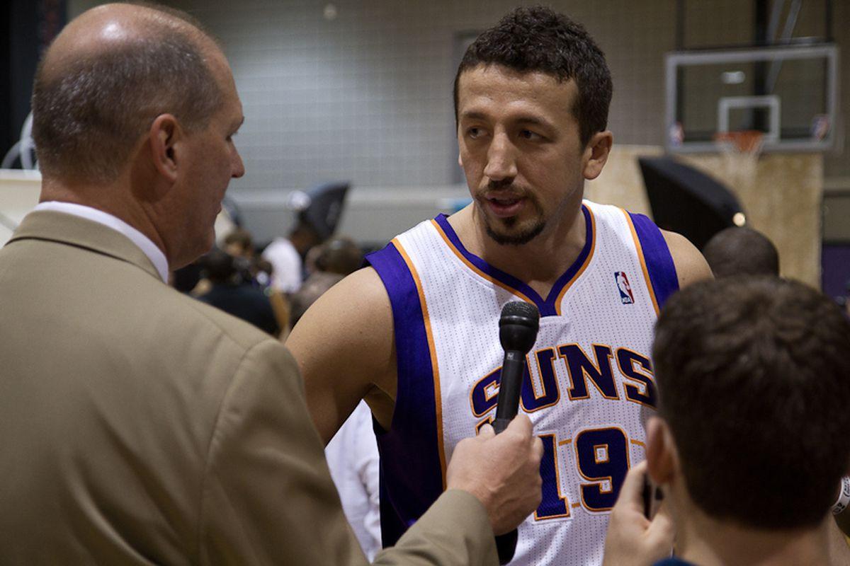 Hedo Turkoglu interview at Suns media day. (Photo by Ryan Malone)