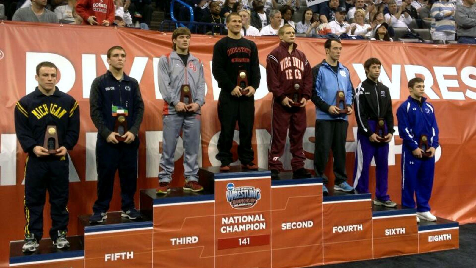 buy online 1f768 3b7d4 2014 NCAA Wrestling Championships results  Ohio State s Logan Stieber  becomes program s 1st 3-time national champ - Land-Grant Holy Land