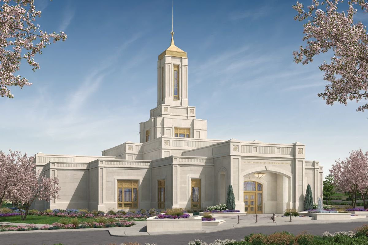 An artist's rendering of the Pittsburgh Pennsylvania Temple.