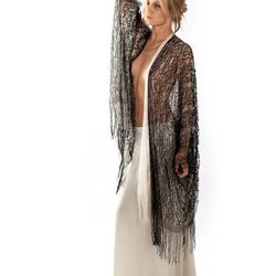 Charcot sheer lace cardigan in black, $348