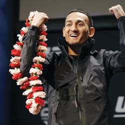 Max Holloway is pumped at UFC 231 presser.