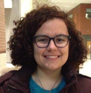 Liz Bajjalieh, a 20-year-old Loyola junior, helped organize Friday's rally, and was one of the speakers.   Maudlyne Ihejirika